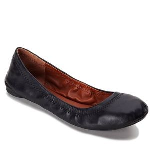Lucky brand 8 1/2 Enmie ballet black flats in EUC